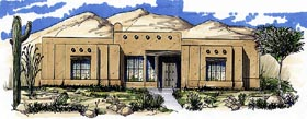 Southwest House Plan 54632 Elevation