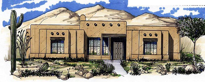 Southwest House Plan 54632 Elevation