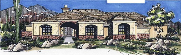 Southwest House Plan 54636 Elevation