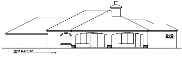 Southwest House Plan 54636 Rear Elevation