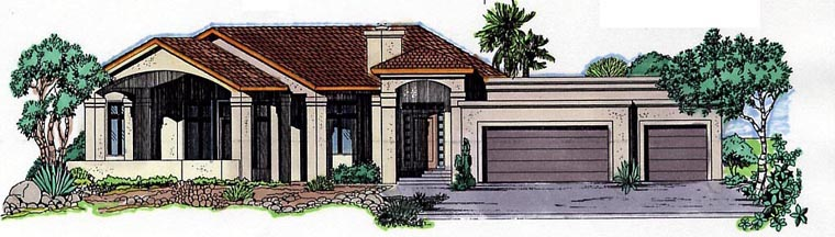 Florida House Plan 54637 Elevation