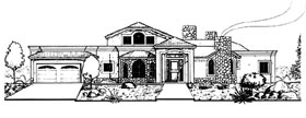 Southwest House Plan 54639 Elevation