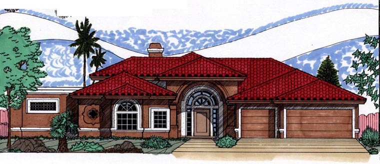 Southwest House Plan 54641 Elevation