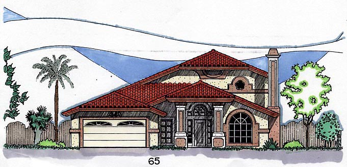 Southwest House Plan 54643 Elevation