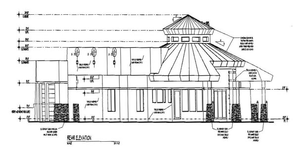 Southwest House Plan 54645 Rear Elevation