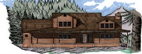 House Plan 54649 | Contemporary Style Plan with 3173 Sq Ft, 4 Bedrooms, 3 Bathrooms, 3 Car Garage Elevation
