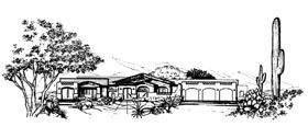 Southwest House Plan 54650 Elevation