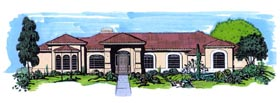 Florida House Plan 54652 Elevation