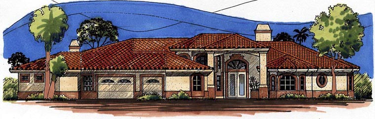 Southwest House Plan 54653 Elevation