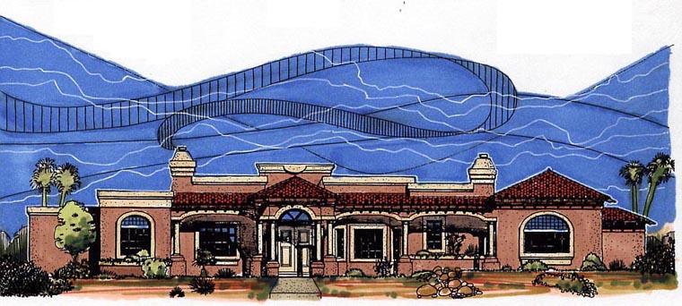 Southwest House Plan 54656 Elevation
