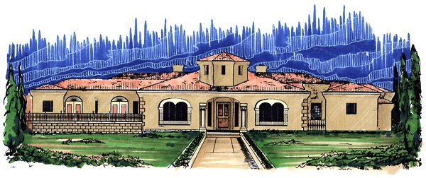 Southwest House Plan 54664 Elevation