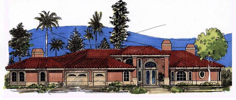 Florida House Plan 54665 Elevation