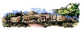 Santa Fe Southwest House Plan 54668 Elevation