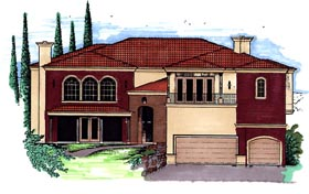 Southwest House Plan 54671 Elevation