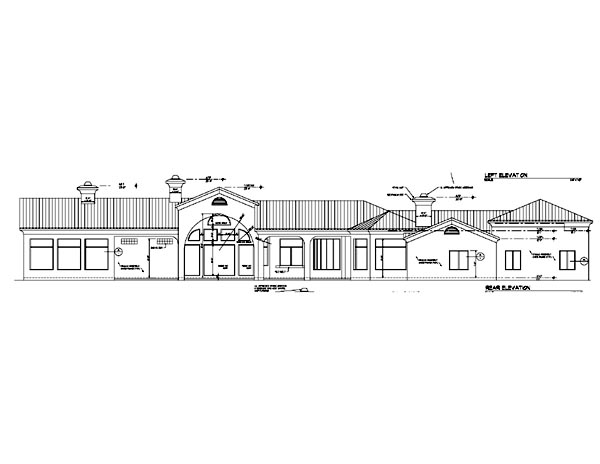 Southwest House Plan 54672 Rear Elevation