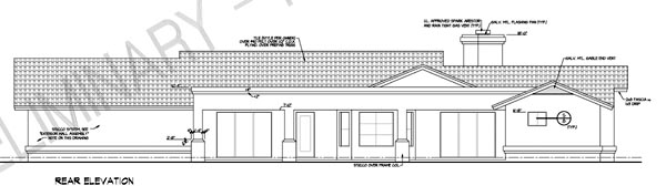 Contemporary Southwest House Plan 54679 Rear Elevation