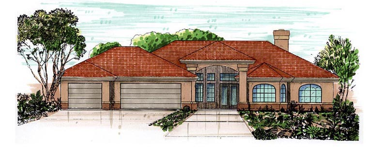 Southwest House Plan 54680 Elevation