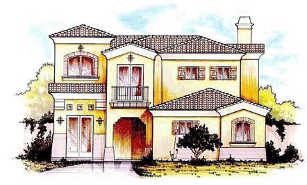 Mediterranean House Plan 54681 Elevation
