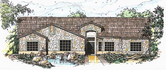 Contemporary Southwest House Plan 54686 Elevation
