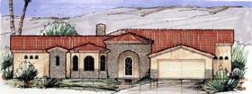 Mediterranean House Plan 54694 Elevation
