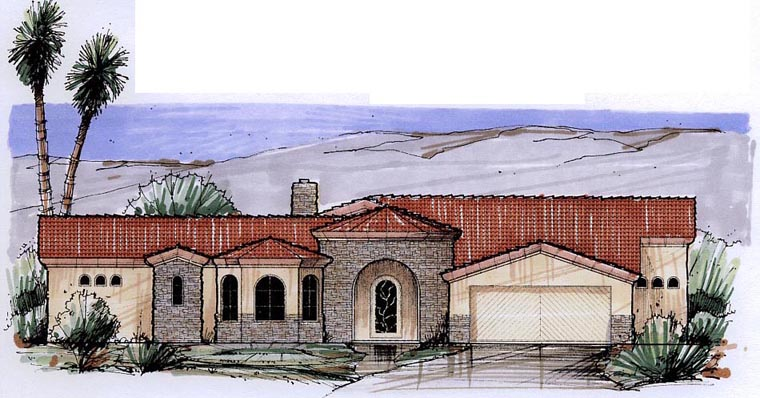 Mediterranean House Plan 54694 Elevation
