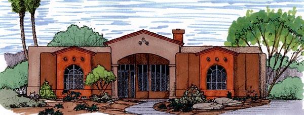 Mediterranean House Plan 54697 Elevation