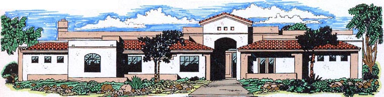 Contemporary Southwest House Plan 54699 Elevation
