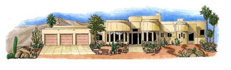 Santa Fe Southwest House Plan 54703 Elevation