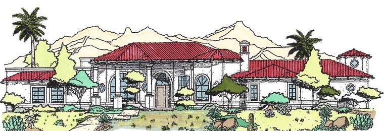 Southwest House Plan 54704 Elevation