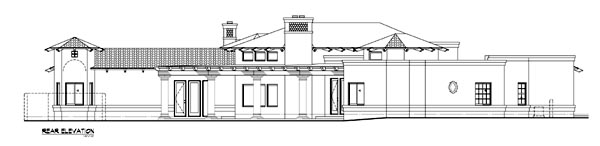 Southwest House Plan 54704 Rear Elevation