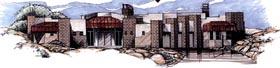 Contemporary Southwest House Plan 54711 Elevation