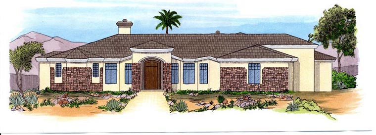 Southwest House Plan 54714 Elevation
