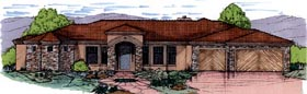 Contemporary House Plan 54716 Elevation