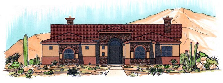 House Plan 54726 Elevation