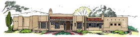 House Plan 54731 | Style Plan with 3153 Sq Ft, 3 Bedrooms, 3 Bathrooms, 3 Car Garage Elevation