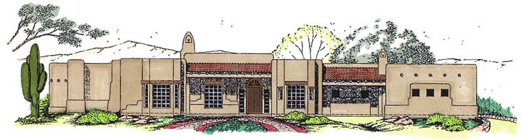 House Plan 54731 Elevation