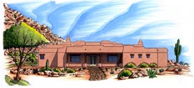House Plan 54733 Elevation