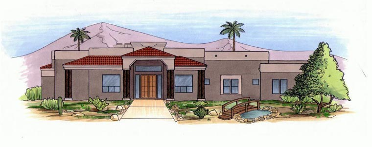 House Plan 54734 Elevation