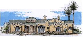 House Plan 54737 Elevation