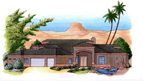 House Plan 54738 Elevation
