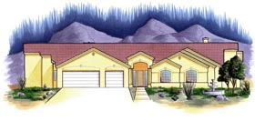 House Plan 54739 Elevation