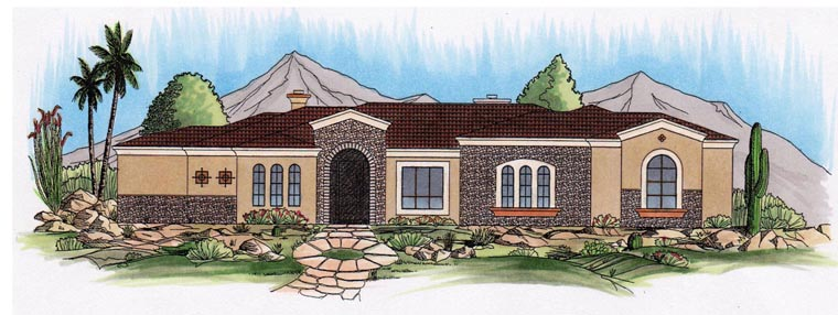 House Plan 54742 Elevation