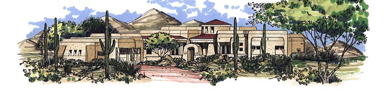 House Plan 54743 Elevation