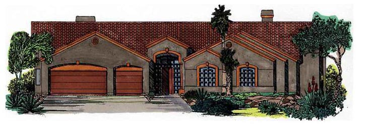 House Plan 54763 Elevation