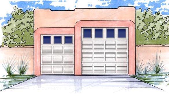 Garage Plan 54769 Elevation