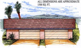 Garage Plan 54773 Elevation