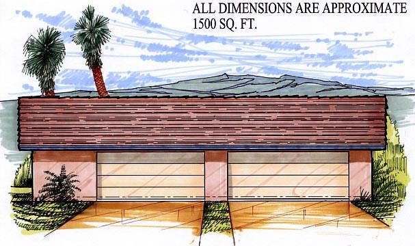 Garage Plan 54773 Elevation