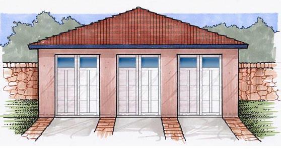 Garage Plan 54777 Elevation