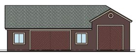 Garage Plan 54778 | Style Plan, 1 Bathrooms, 3 Car Garage Elevation