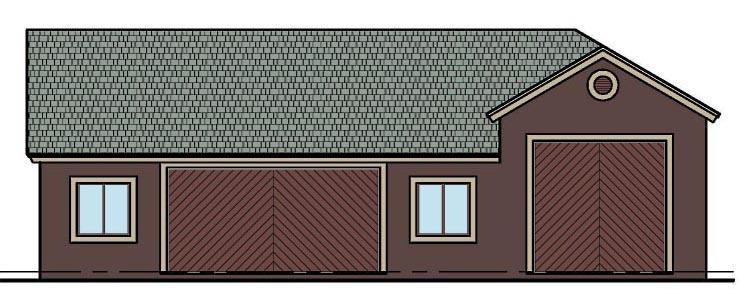 Garage Plan 54778 Elevation